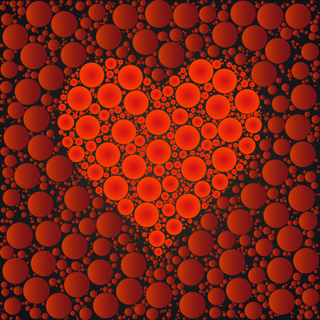 Heart designed background made with dots Illustration