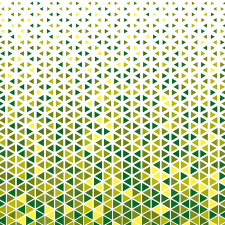 Halftone effect triangle mosaic pattern background various colours