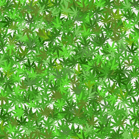 Cannabis leaves background template - various green colours