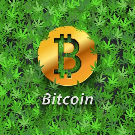 Cannabis the new bitcoin Ilustracja