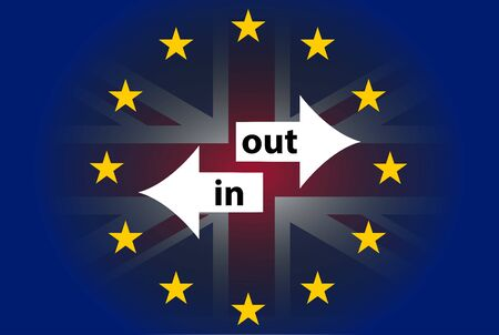 Brexit background template, United Kingdom leaving or not the European Union