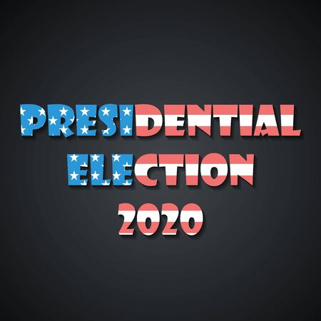 USA presidential election 2020 banner