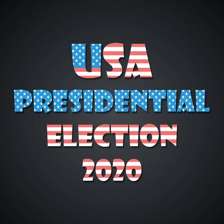 USA presidential election 2020 banner