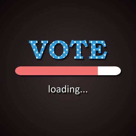 Simple USA election - Vote loading bar  - the voting day is coming Illustration