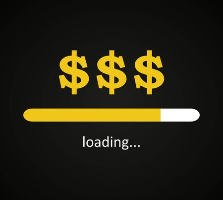 Dollar loading, money coming to me background template