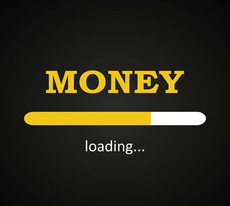 Money loading, money coming to me background template