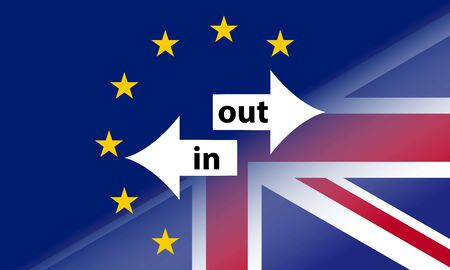 Brexit background template, United Kingdom leaving or not the European Unionu Illustration