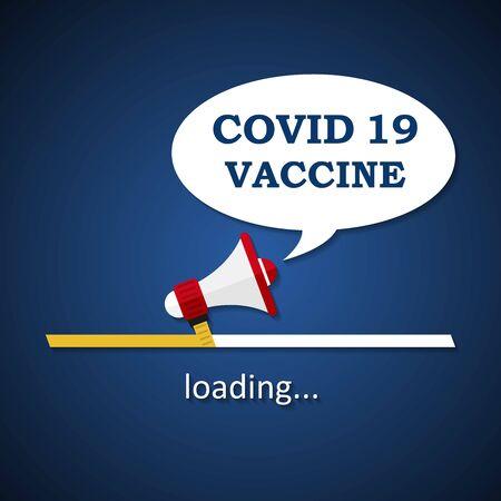Covid 19 vaccine loading bar - fight against the coronavirus disease
