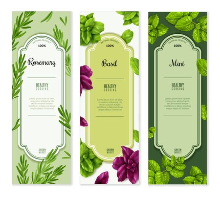 spices herbs vertical banners