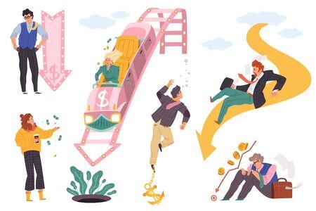 Global financial crisis set Ilustração