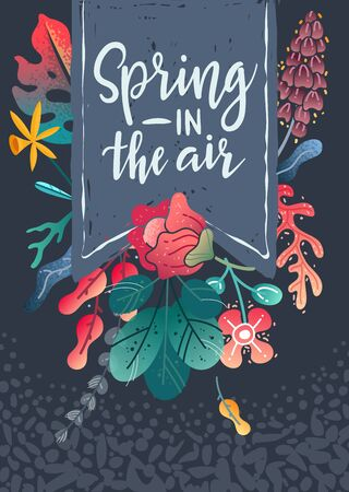 Vertical spring poster