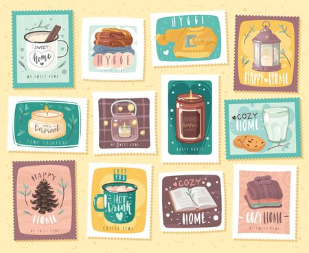 hygge cozy stamps set