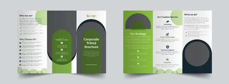This a corporate green tri fold brochure design that are industrial, company based