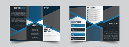 The creative corporate vector editable layout of square format covers design templates for trifold brochure, flyer, magazine. Creative trendy style mockups, blue color trendy design backgrounds. Vectores