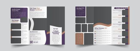The interior real estate vector editable layout of square format covers design templates for trifold brochure, flyer, magazine. Creative trendy style mockups, blue color trendy design backgrounds.