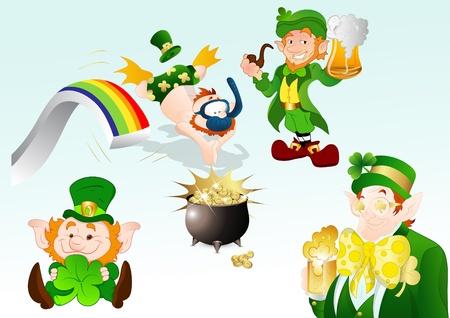 Funny St  Patrick s Day Stock Vector - 12498324