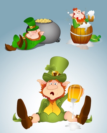 drunk party: Leprechaun Illustrations