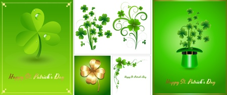 Patrick s Day Background Templates Stock Vector - 12498252