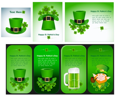 Patrick s Day Banner Templates Vector