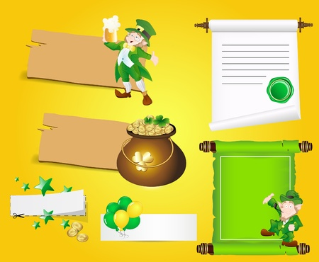 Patrick s Day Banners and Scrolls Vector