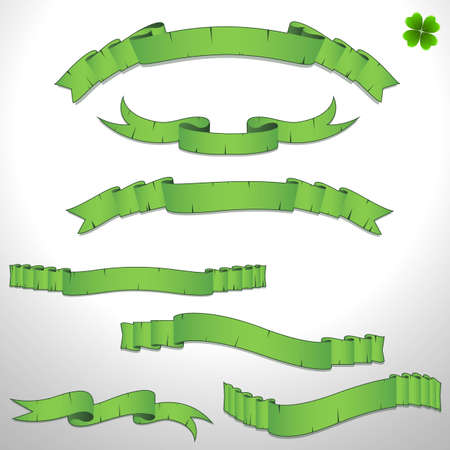 clover banners: Patrick s Day Banners Illustration