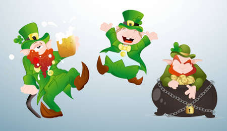 Patrick s Day Cartoons Characters Vector