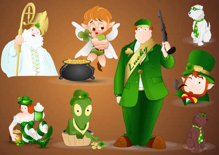 Patrick s day Characters Vectors Vector