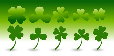 Patrick s Day Clover Leaf Vectors Stock Vector - 12498263