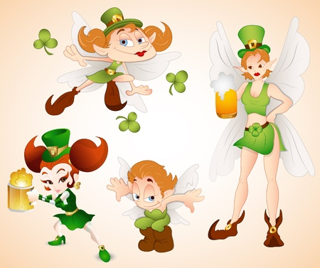 Patrick s Day Fairies Vectors Vector