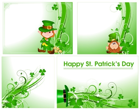 lucky day: Patrick s Day Floral Backgrounds Illustration