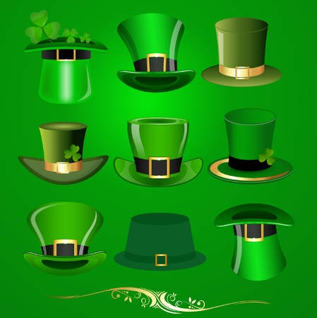 Patrick s Day Hats Vectors Vector