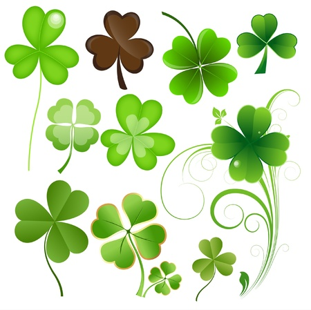 clover leaf shape: Patrick s Day Leaves