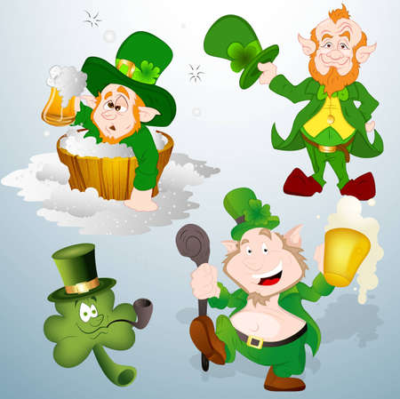 Patrick s Day Leprechaun Vectors Stock Vector - 12498288