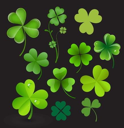 irish culture: Patrick s Day Shamrocks Vectors