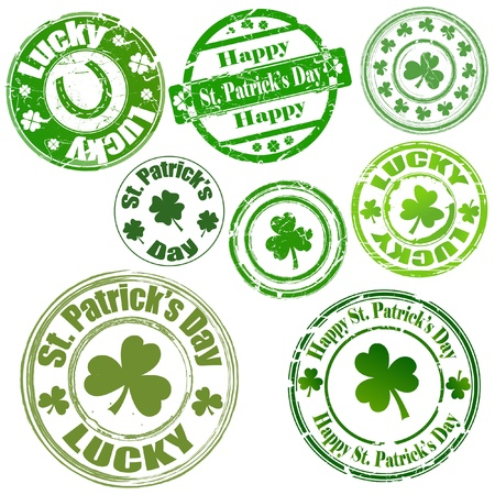 clovers: Patrick s Day Stamps Illustration