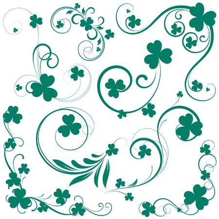 Patricks Day Swirls Vector