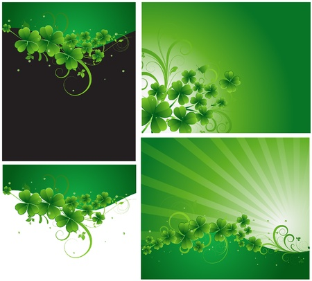 clover banners: Patrick s Day Vector Designs