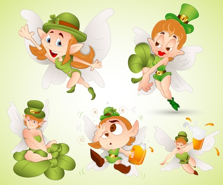 st patrick s day: St  Patrick s Day Fairies Illustration