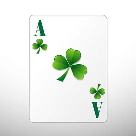 ace of diamonds: St  Patrick�s Day Playing Card Illustration