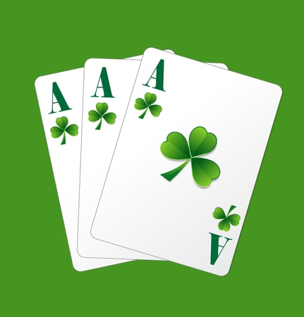 St  Patrick's Day Ace Cards Vector