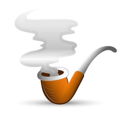 sigaretta: Fumare la pipa Vettoriali