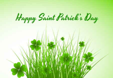 St  Patrick�s Day Shamrock Background Vector