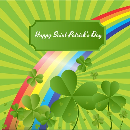 Green Nature Shamrock Background Stock Vector - 12498278