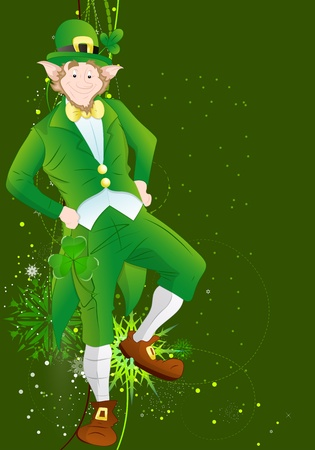 Irish Leprechaun Patrick�s Day Background Vector