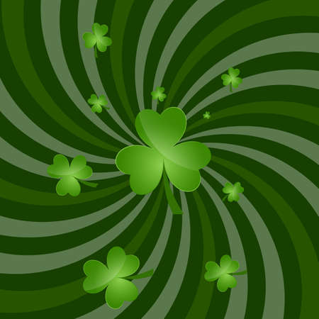 Green Clover Leaf Background Vector