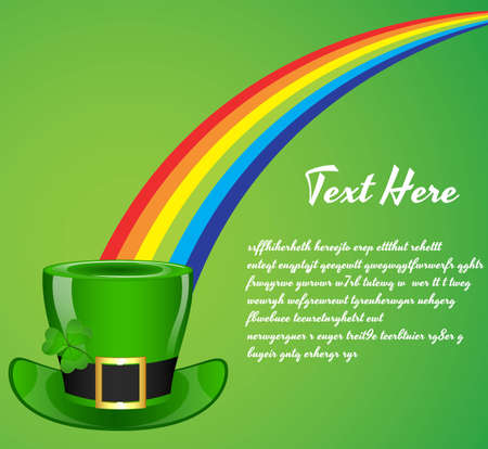 St  Patricks Day Hat Background Vector