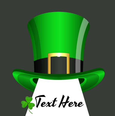 St  Patricks Day Hat Banner Vector