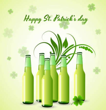 St  Patrick's Day Beer Bottles Stock Vector - 12655117