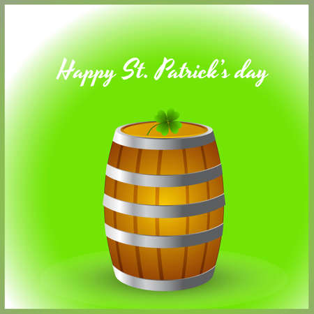 distillery: Shamrock on Wine Barrel