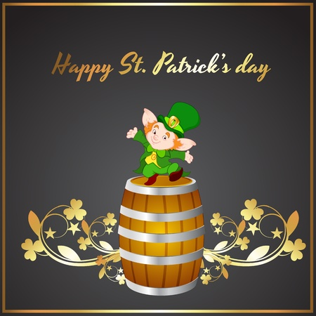 St  Patricks Day Wine Barrel Vector